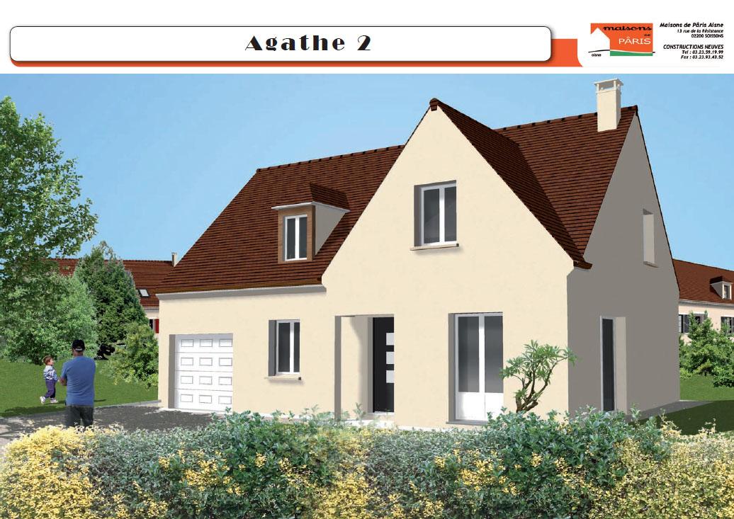 Maisons de Pâris Aisne : Modèle Agathe 2