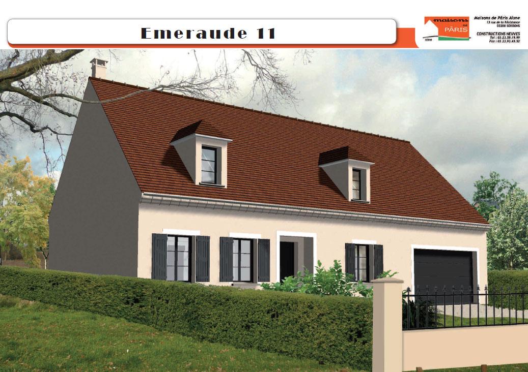 Maisons de Pâris Aisne : Modèle Emeraude 11
