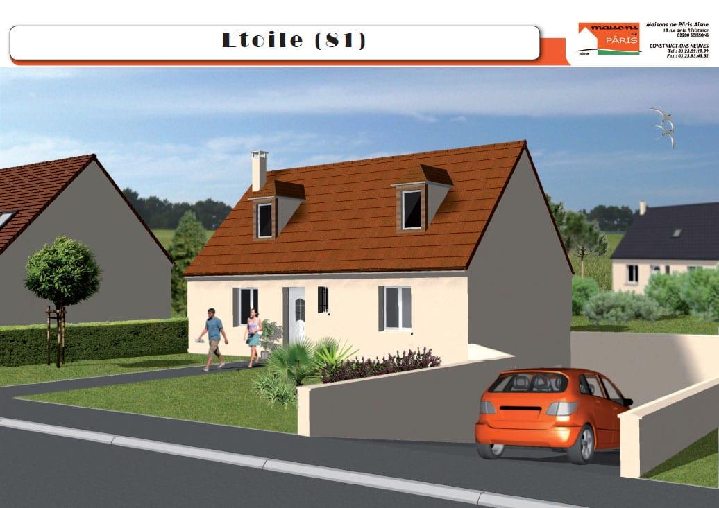 Maisons de Pâris Aisne : Modèle Etoile