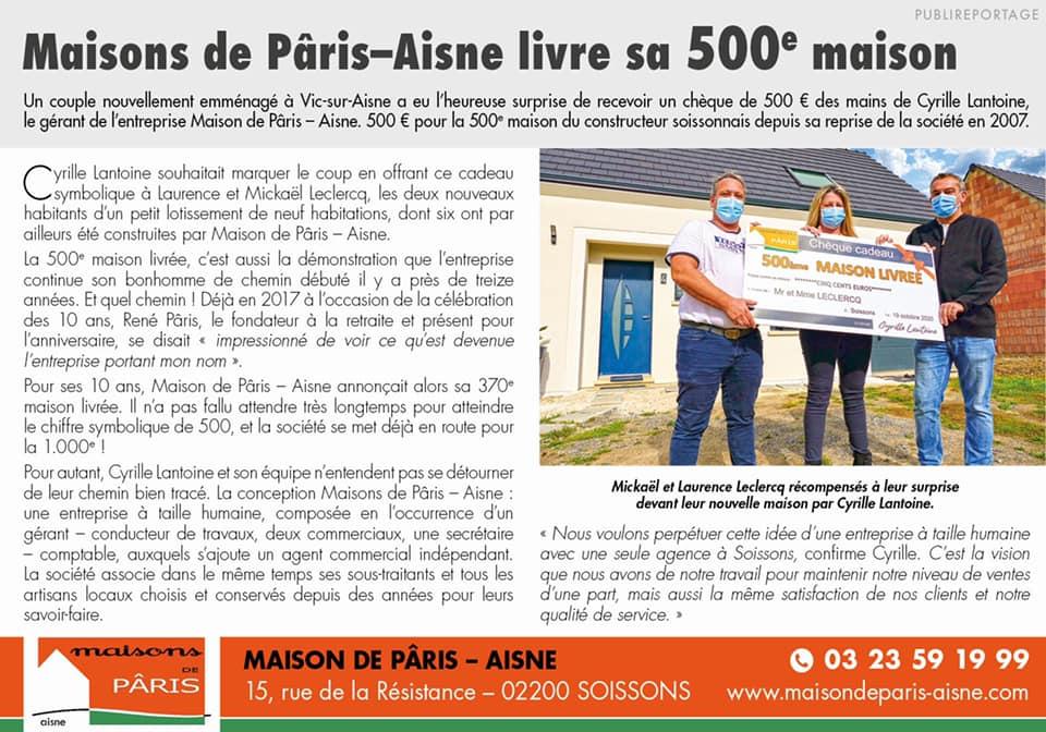 Maison de Paris Aisne 500
